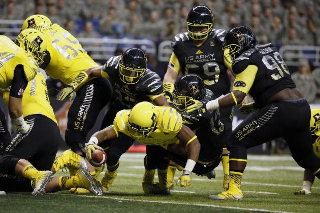 Ducks Commit Royce Freeman Scores 3 TDs in U.S. Army All-American Bowl