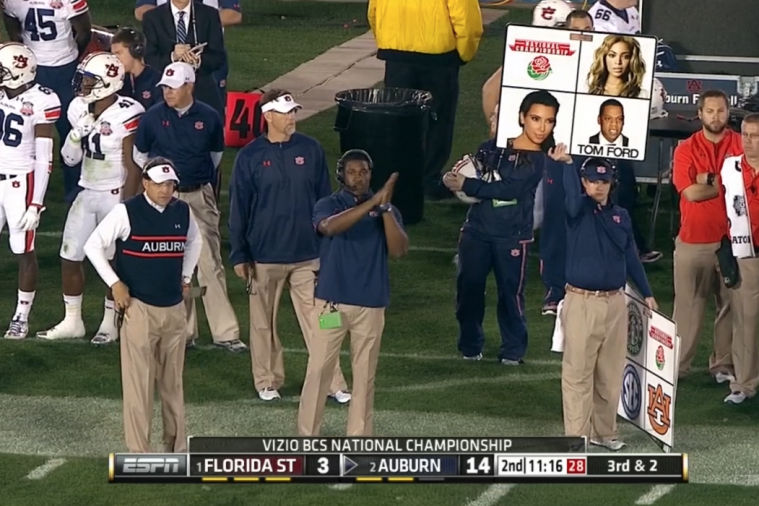 Auburn Uses Beyonce, Jay-Z, Kim Kardashian and Ron Burgundy to Call Plays