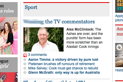 Guardian Sport's NSFW Ashes Typo Goes Viral on Twitter