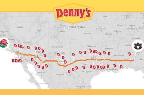 Denny's Twitter Encourages Sad Auburn Fans to Stop in on Their Way Home