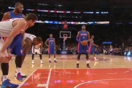 J.R. Smith Attempts to Untie Opponent's Shoe, Again