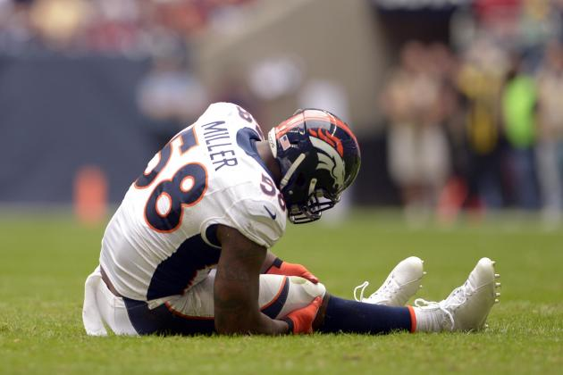 Broncos' Miller to have knee surgery Thu.