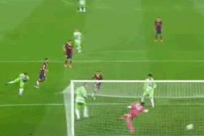 GIF: Cesc Fabregas Heads Barcelona Ahead vs. Getafe in Copa Del Rey