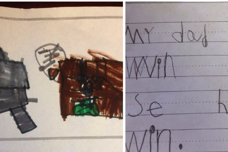 This 6-Year-Old's School Drawing of Her Dad Probably Fits a Lot of Seahawks Fans