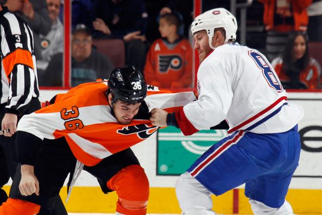 Video: Flyers' Rinaldo fights Habs'Prust
