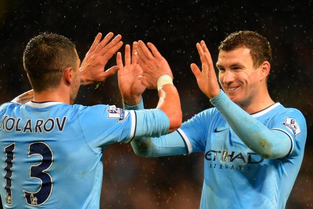 Edin Dzeko Lost Count of Manchester City's Score in 6-0 Rout of West Ham United