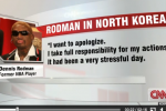 Rodman Apologizes for Outburst: 'I Had Been Drinking'