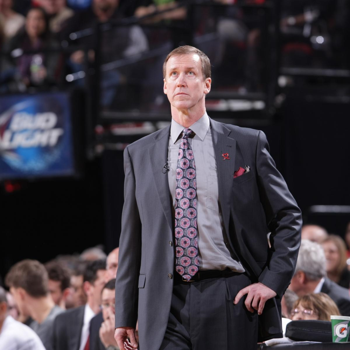 Portland Trail Blazers Coach: Portland Trail Blazers Coach Terry Stotts Curses Out Team