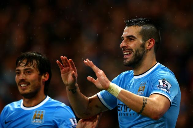 Alvaro Negredo's Form Means Manchester City Can Take Time with Sergio Aguero