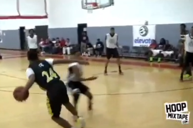 Young Kid's Defender Somehow Stays Up Despite Absurd Crossover