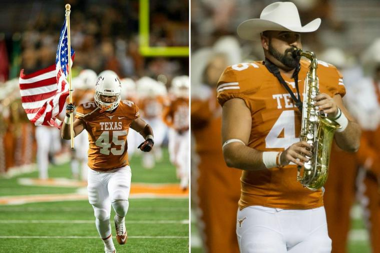 Longhorns Linebacker Shawn Izadi Plays in the Band and on the Football Team
