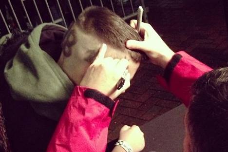 Instagram: Stewart Inks Kid's Shaved Dome