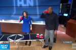 Charles Barkley Kinda Sucks at Beer Pong