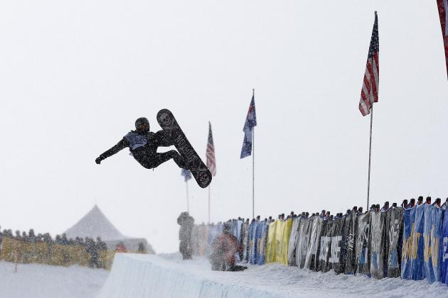 White Advances in Slopestyle Qualifying