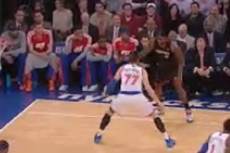 LeBron James Drives by Andrea Bargnani for Reverse Dunk
