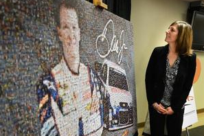 Mosaic of Dale Earnhardt Jr. Raises Money for Artists
