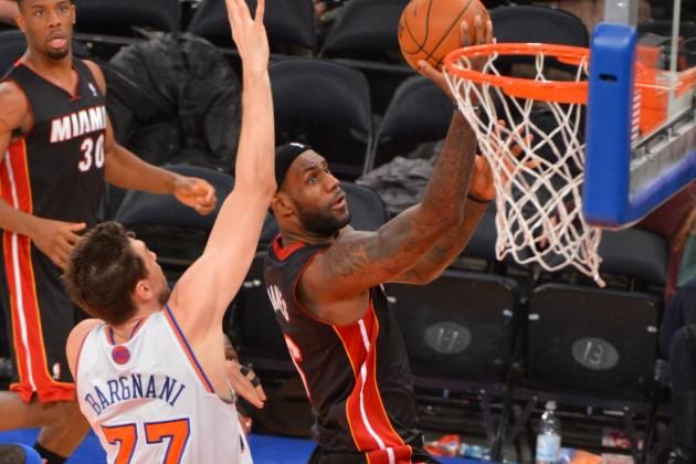 Knicks Burn Heat 102-92, Despite LeBron's 32
