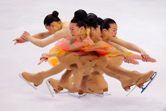 Sport Picture of the Day: Figure Skating in a Spin