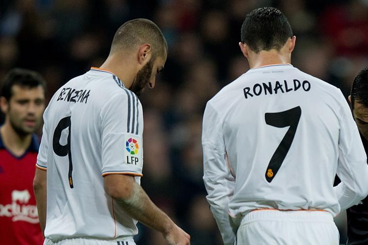 GIF: Cristiano Ronaldo Jumps Ludicrously High, Lands on Karim Benzema