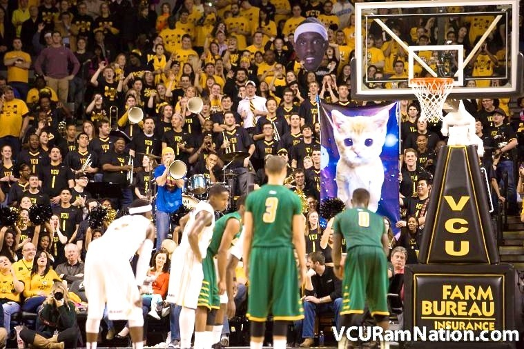 VCU's Band Covers Miley Cyrus, Employs a Space Kitten Free-Throw Distraction