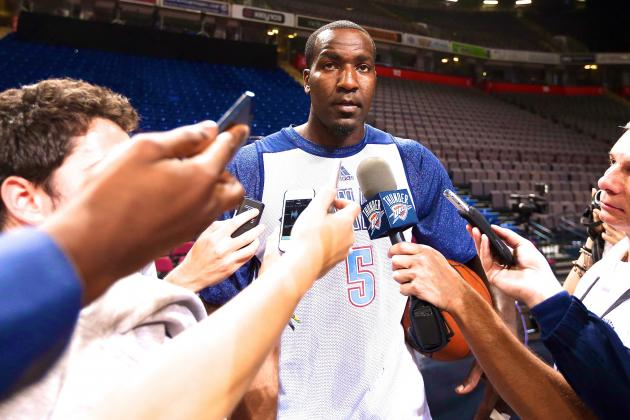 Frustrated Kendrick Perkins Lashes out at OKC Reporter