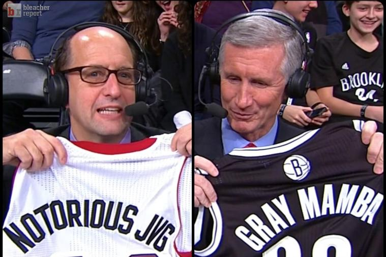 Jeff Van Gundy and Mike Breen Get Awesome Jerseys for Heat-Nets Game