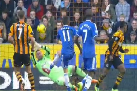 GIF: Hull City's Allan McGregor's Thwarts Chelsea's Oscar with Brilliant Save
