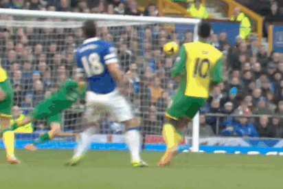 GIF: Everton's Gareth Barry Scores 50th Premier League Goal vs. Norwich City