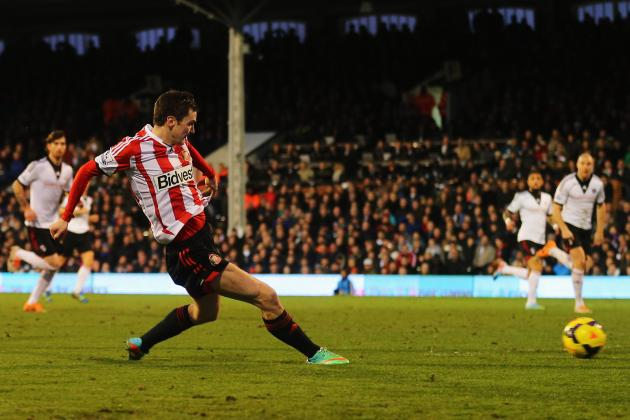 Sunderland off Bottom After Johnson Treble Sinks Fulham