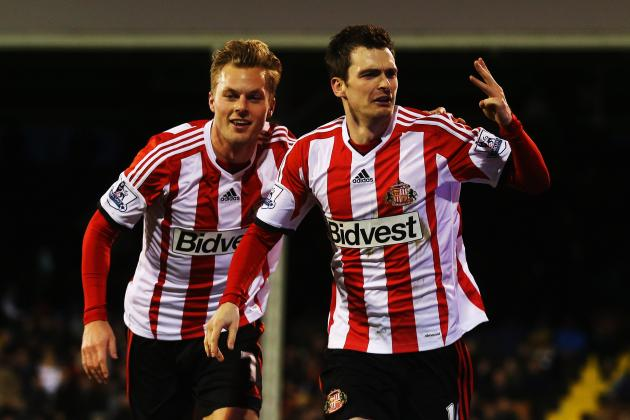 GIFs: Watch Sunderland's Adam Johnson's Hat Trick Against Fulham