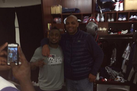 Image: Charles Barkley Celebrates Pats Win in Locker Room