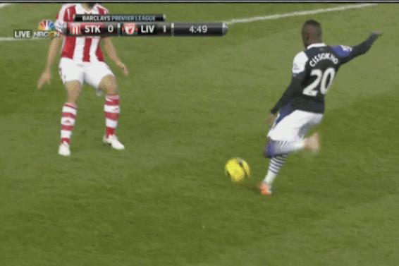 GIFs: Aly Cissokho's Lucky Strike and All the Action from Stoke vs. Liverpool