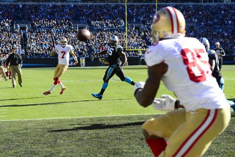 Jim Harbaugh May Have Walked Too Far onto Field During Vernon Davis' TD