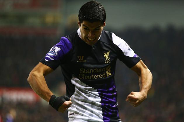 GIF: Luis Suarez Celebrates Like the Hulk During Liverpool's Match at Stoke City