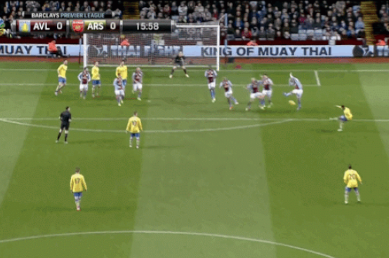 GIF: Aston Villa's Nathan Baker Injured After Taking Shot to the Face