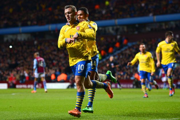 Aston Villa vs. Arsenal: Live Player Ratings for the Gunners