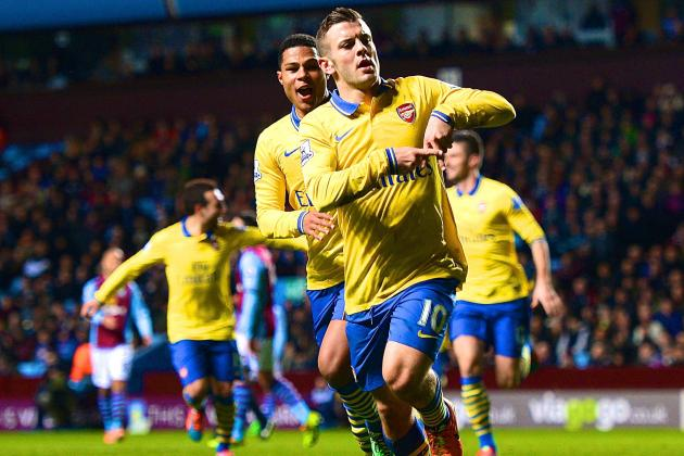 Aston Villa vs. Arsenal: Jack Wilshere Emerges from Aaron Ramsey's Shadow