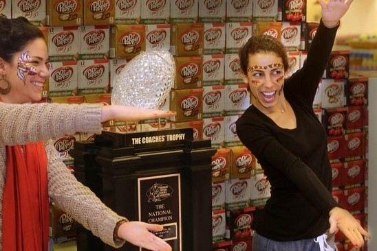 Closeted Florida Fans Do Gator Chomp with BCS National Championship Trophy