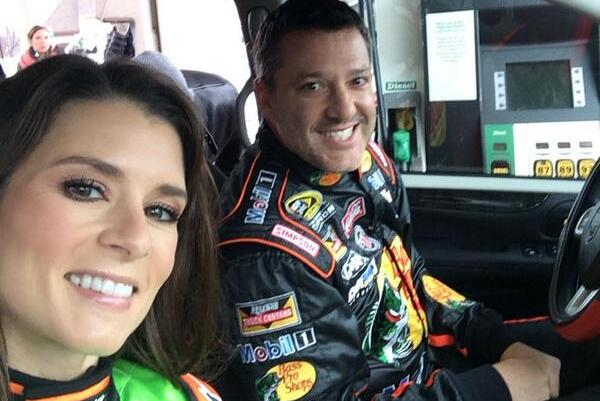 Tony Stewart Spotted in Firesuit Alongside Danica