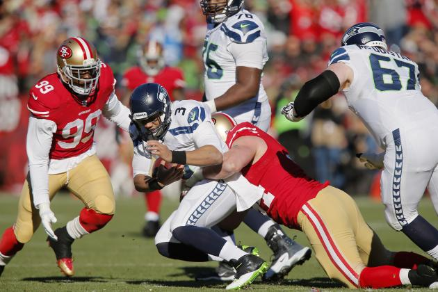49ers Must Take Advantage of Struggling Russell Wilson in NFC Championship