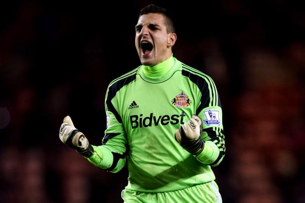 Manchester United Transfer Rumours: Vito Mannone Approach Made to Sunderland