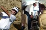 Bubba Watson Sinks Long Putt... on Private Jet
