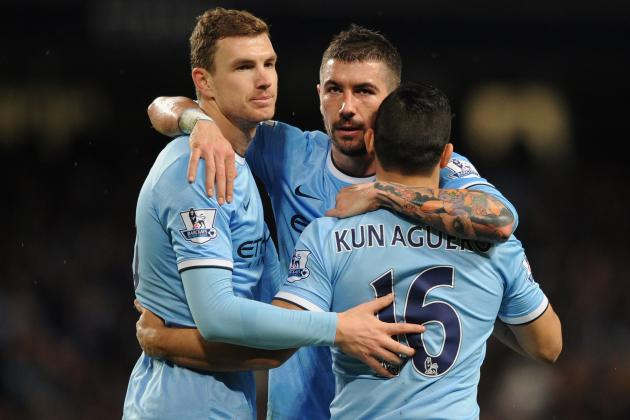 Manchester City vs. Blackburn Rovers: Live Player Ratings for City