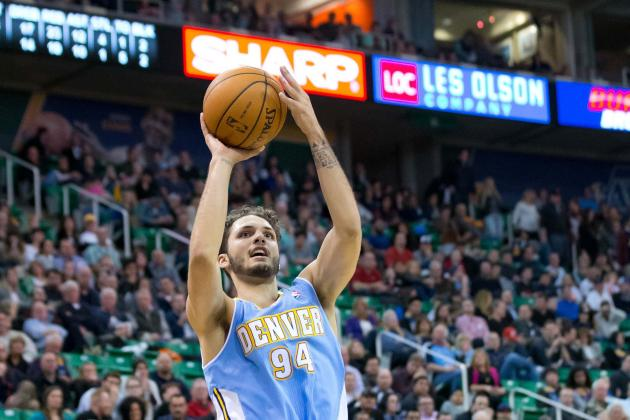 Evan Fournier Makes Half-Court Shot Against Golden State Warriors