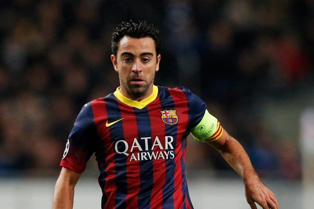Xavi Hernandez Makes Record 700th Appearance for Barcelona