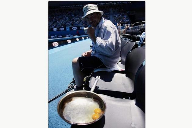 It's so Hot at the Australian Open That Fans Are Now Trying to Fry Eggs