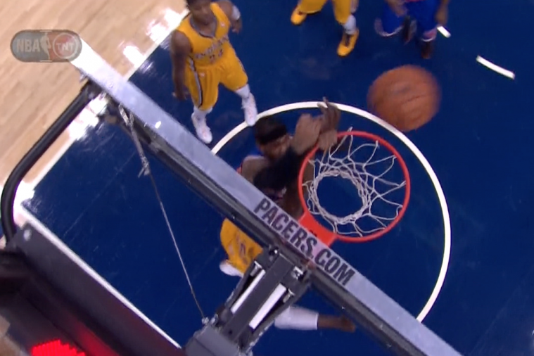 Knicks' Carmelo Anthony Still Can't Dunk on Pacers' Roy Hibbert