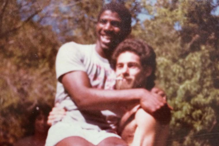 Old Picture of Magic Johnson at Lakers' Picnic Surfaces