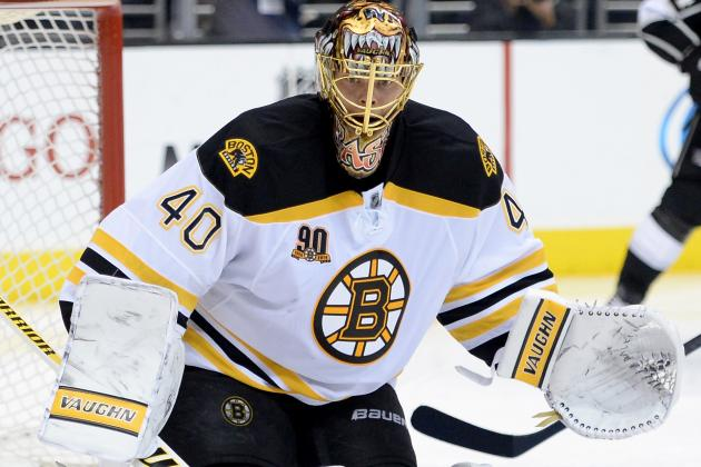 Bruins Goalie Chad Johnson Bleeds from Eye After Taking Stick to Face
