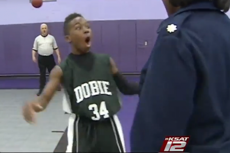 Airman Returns Home to Surprise Her 13-Year-Old Son at His Basketball Game